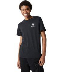 converse camiseta stacked logo black