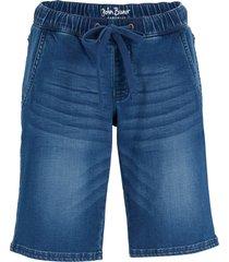 bermuda di jeans  con elastico straight (blu) - john baner jeanswear