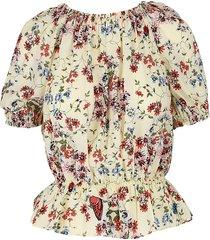maje women's floral silk top - size 2 (m)