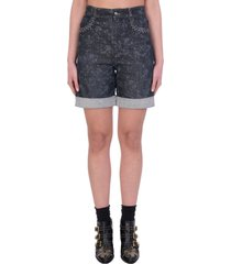 chloé shorts in black denim