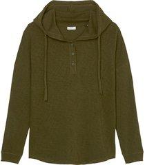 hooded long sleeve top
