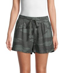 splendid women's camo drawstring shorts - camo - size xs