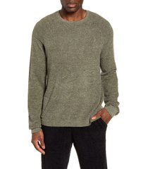 men's barefoot dreams cozychic(tm) lite raglan sweater, size small - green