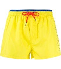 diesel fold & go swim shorts - yellow