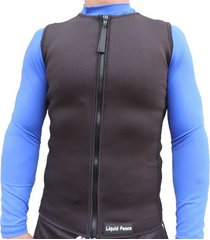 men's 2mm neoprene wetsuit vest-full front zipper, superstretch,sizes: small-3xl