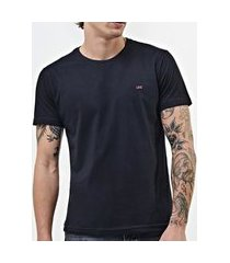 camiseta lee malha penteada 5101l manga curta masculina preto