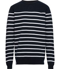 coastal knit gebreide trui met ronde kraag blauw makia