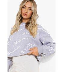 korte woman sweater, grey