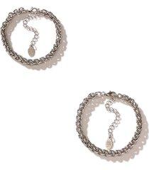 women's 8 other reasons x jenn im cusp set of 2 bracelets