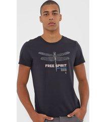 camiseta sergio k free spirit preta - kanui