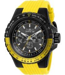 reloj invicta 33038 amarillo silicona