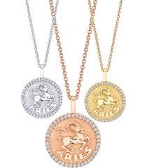 aries zodiac diamond necklace