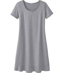 comfortabele jurk van bio-jersey, zilvergrijs 36