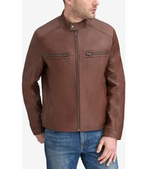 marc new york men's leather racer jacket