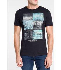 camiseta ckj mc florest glitch - preto - pp