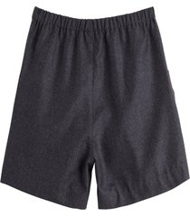 gucci flannel shorts with web detail