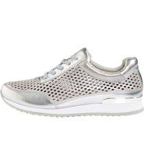 sneakers mona silverfärgad