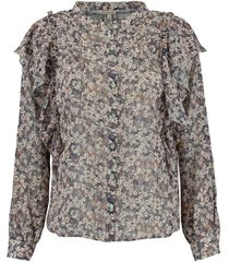 blouse floral lilac