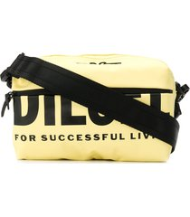 diesel logo print crossbody bag - yellow