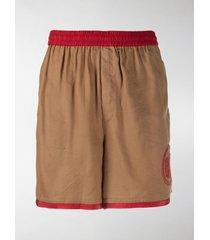 bode beaded logo track shorts