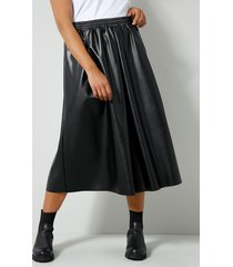 imitatieleren rok angel of style zwart