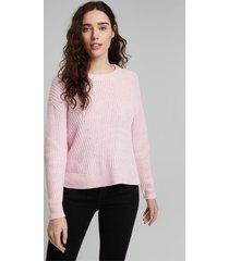 sweater mujer texturado liso rosado esprit