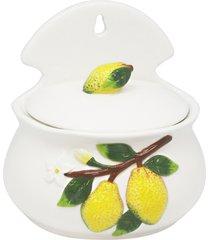 saleiro de cerâmica derlei 14x11x15cm - linha lemons