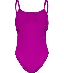 araks yui ruched cut-out swimsuit - purple