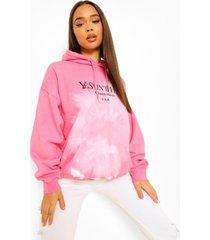 oversized tie dye ye saint west hoodie, pink