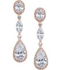 eliot danori oval crystal drop earrings, created for macy's