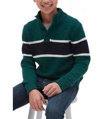 chaleco chest-stripe verde gap