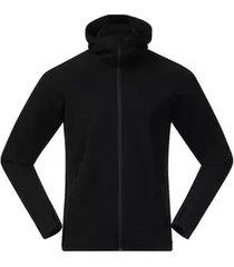 bergans vest men ulstein wool hood jacket black