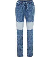 jeans ultra morbidi con elastico in vita (blu) - john baner jeanswear