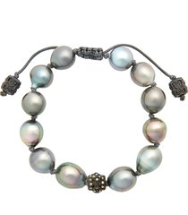 women's armenta old world pearl & diamond bracelet