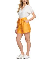 dkny tie-waist shorts