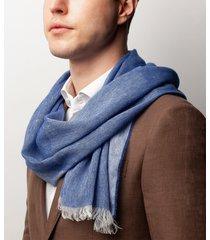 sciarpa da uomo, maalbi, lino cashmere blu, primavera estate | lanieri