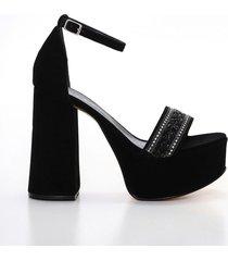 sandalia negra heyas cedric