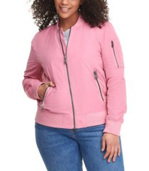 levi's trendy plus size melanie bomber jacket