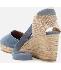 castañer women's carina wedged espadrille sandals - jeans - uk 7.5