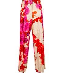 dries van noten floral print trousers