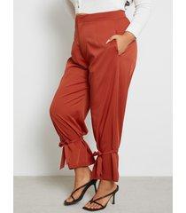 yoins plus talla de amarre diseño pantalones