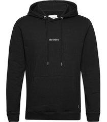 lens hoodie hoodie trui zwart les deux
