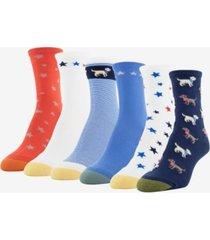 goldtoe women's 6-pk. american animals midi socks