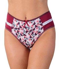 calcinha vip lingerie em microfibra e elástico decorado bordô