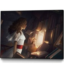 "eyes on walls charlie bowater the reader art block framed canvas 40"" x 30"""