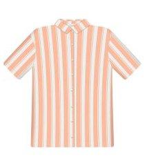 lez a lez - camisa tecido rayon bali manga curta solar