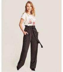 pantalón de rayas amplio