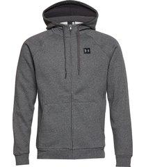 rival fleece fz hoodie hoodie trui grijs under armour