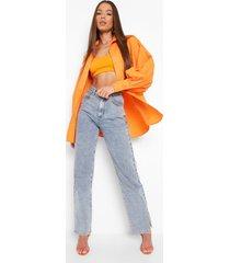 oversized boyfriend overhemd, orange