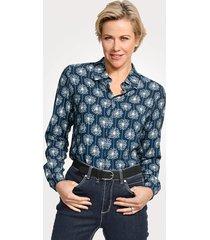 blouse mona blauw::wit